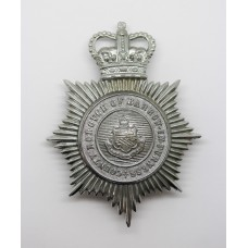 Barrow-in-Furness County Borough Police Helmet Plate - Queen's Crown