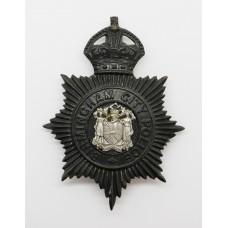 Birmingham City Police Night Helmet Plate - King's Crown
