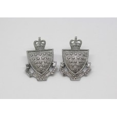 Pair of Cornwall Constabulary Collar Badges - Queen's Crown