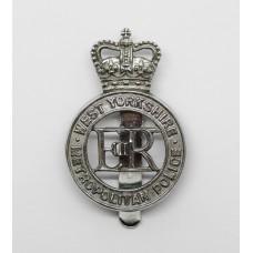 West Yorkshire Metropolitan Police Cap Badge - Queen's Crown