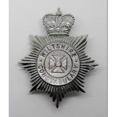 Wiltshire Constabulary Helmet Plate - Queen's Crown