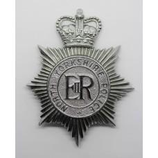 North Yorkshire Police Helmet Plate - Queen's Crown