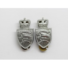 Pair of Essex Constabulary Collar Badges - Queen's Crown