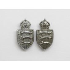 Pair of Essex Constabulary Collar Badges - King's Crown