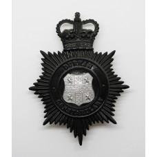 Durham Constabulary Night Helmet Plate - Queen's Crown