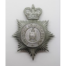 Southport Borough Police Helmet Plate - Queen's Crown