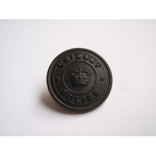 Grimsby Police Button - Queen's Crown