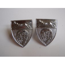 Pair of Leicestershire and Rutland Constabulary Collar Badges