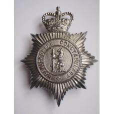 Warwickshire Constabulary Helmet Plate - Queen's Crown