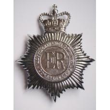 Nottinghamshire Combined Constabulary Helmet Plate - Queen's Crown