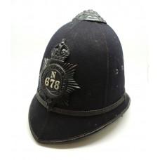 George V Metropolitan Police, N Division Constables / Sergeants Helmet (1912-1935)