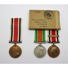 Lincolnshire Special Constabulary Father & Son Medal Group - Parker Family
