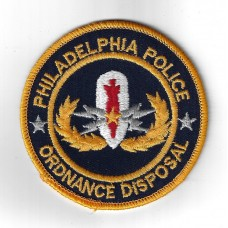 United States Philadelphia Police Ordnance Disposal Cloth Patch