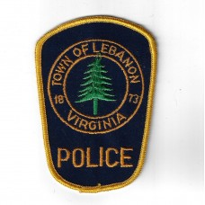 United States Town of Lebanon Virginia Police Cloth Patch