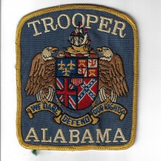 United States Trooper Alabama Police Cloth Patch