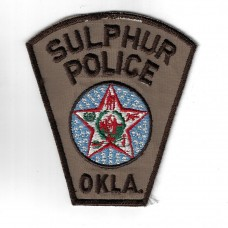 United States Sulphur Police, OKLA (Oklahoma) Cloth Patch