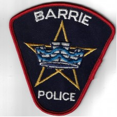 United States Barrie Police (Ontario) Cloth Patch