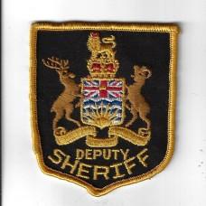 Canadian (British Columbia) Deputy Sheriff Police Cloth Patch
