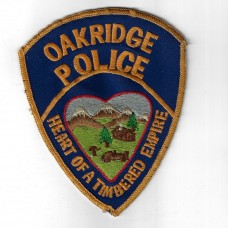 United States Oakridge Police Cloth Patch