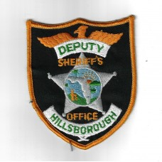United States Hillsborough Police Deputy Sheriff's Office Cloth Patch