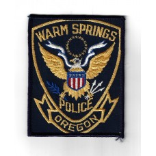 United States Warm Springs Oregon Police Cloth Patch