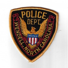 Unites States Wendell North Carolina Police Department Cloth Patch