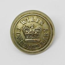 Victorian Wiltshire Constabulary Button