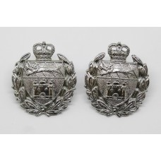Pair of Norfolk Joint Police Collar Badges - Queen's Crown