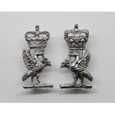 Pair of Liverpool City Police Collar Badges - Queen's Crown
