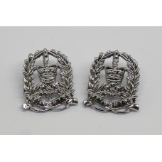 Pair of Hampshire Constabulary Collar Badges - Queen's Crown