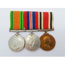 WW2 Defence & War Medal and ERII Special Constabulary Long Service Medal Group of Three - Dudley O. Keating