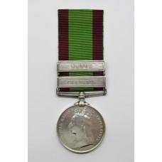 Afghanistan 1878-80 Medal (Clasps - Charasia, Kabul) - Sepoy Raj Mohamad, 5th Punjab Infantry