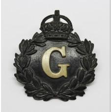 Gloucestershire Constabulary Black Wreath Cap Badge - King's Crown