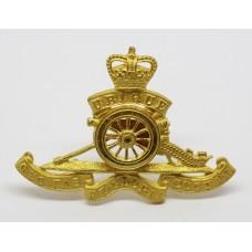 Royal Artillery Officer's Dress Cap Badge - Queen's Crown