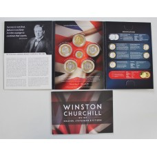 Sir Winston Churchill Commemorative Coin set Including 24ct Gold Proof Coin
