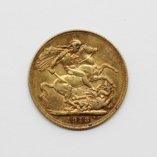 1913 George V 22ct Gold Full Sovereign Coin
