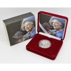 Royal Mint 2002 United Kingdom Silver Proof Queen Mother Memorial Crown