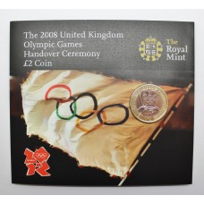 Royal Mint 2008 United Kingdom Olympic Games Handover Ceremony Brilliant Uncirculated £2 Coin