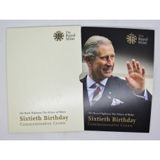 Royal Mint 2008 United Kingdom The Prince of Wales Sixtieth Birthday Commemorative Crown
