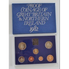 1982 Coinage of Great Britain and Northern Ireland Proof Coin Set