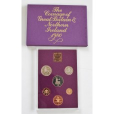 1980 Coinage of Great Britain and Northern Ireland Proof Coin Set