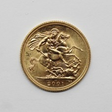 2001 Elizabeth II 22ct Gold Full Sovereign Coin