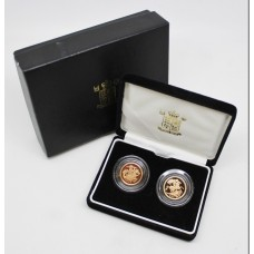 Royal Mint 2005 & 2006 Gold Proof Half Sovereign Two Coin Set