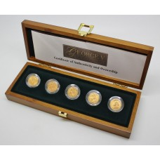 Royal Mint George V Gold Mintmark Coin Set ( 5 Full Sovereigns)