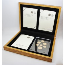 Royal Mint 2008 United Kingdom Royal Shield of Arms 22ct Gold Proof Coin Set (7 Coins)