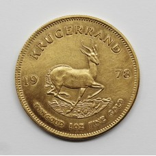 1978 South Africa 1oz Gold Krugerrand Coin