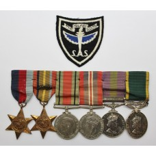 Scarce WW2 Japanese Prisoner of War, GSM (Clasp - Malaya) and Territorial Efficiency Medal Group of Six - Tpr. K. Aitken, Malayan Scouts (S.A.S.)