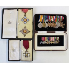 An Excellent K.B.E. (C.B.E. 1941), Most Honourable Order of the Bath C.B. (Military), WW1, GSM (Kurdistan, Palestine), WW2 (3 x MID's), Iraq Active Service Medal & Polish Cross of Valour Medal Group of 13 with Miniatures – Air Vice-Marshal Sir Alexander Paul Davidson, H.L.I., R.F.C. and R.A.F.