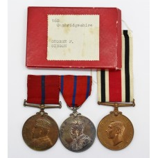 City of London Police 1902 and 1911 Coronations Medal Pair & George VI Special Constabulary Long Service Medal - George F. Gibson, City of London Police & Cambridgeshire Special Constabulary