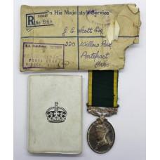 George VI Territorial Efficiency Medal - Gnr. G.C. Scott, Royal Artillery